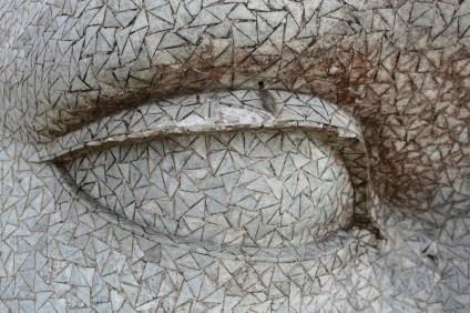 Detalhe do olho do Cristo Redentor. RJ, 31/03/2010. Foto: Wilton Junior/AE