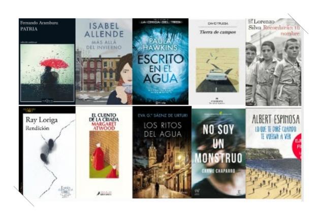 Lista libros ficción más vendidos del 19 al 25 junio