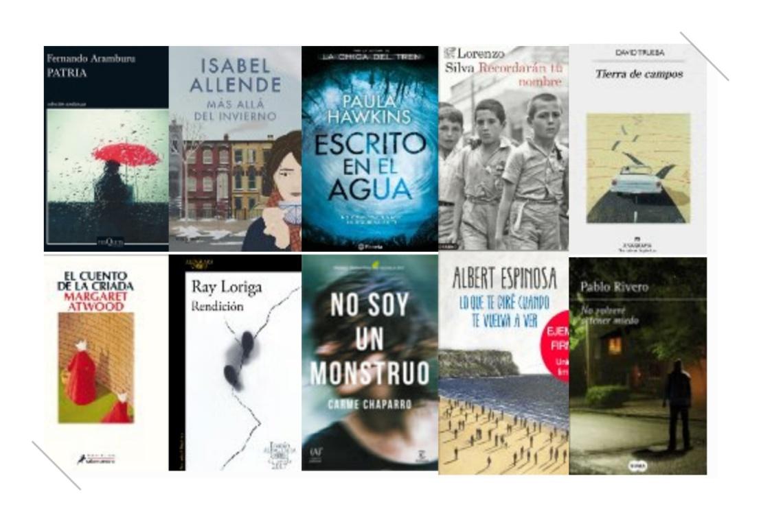 Lista libros ficción más vendidos del 12 al 18 junio