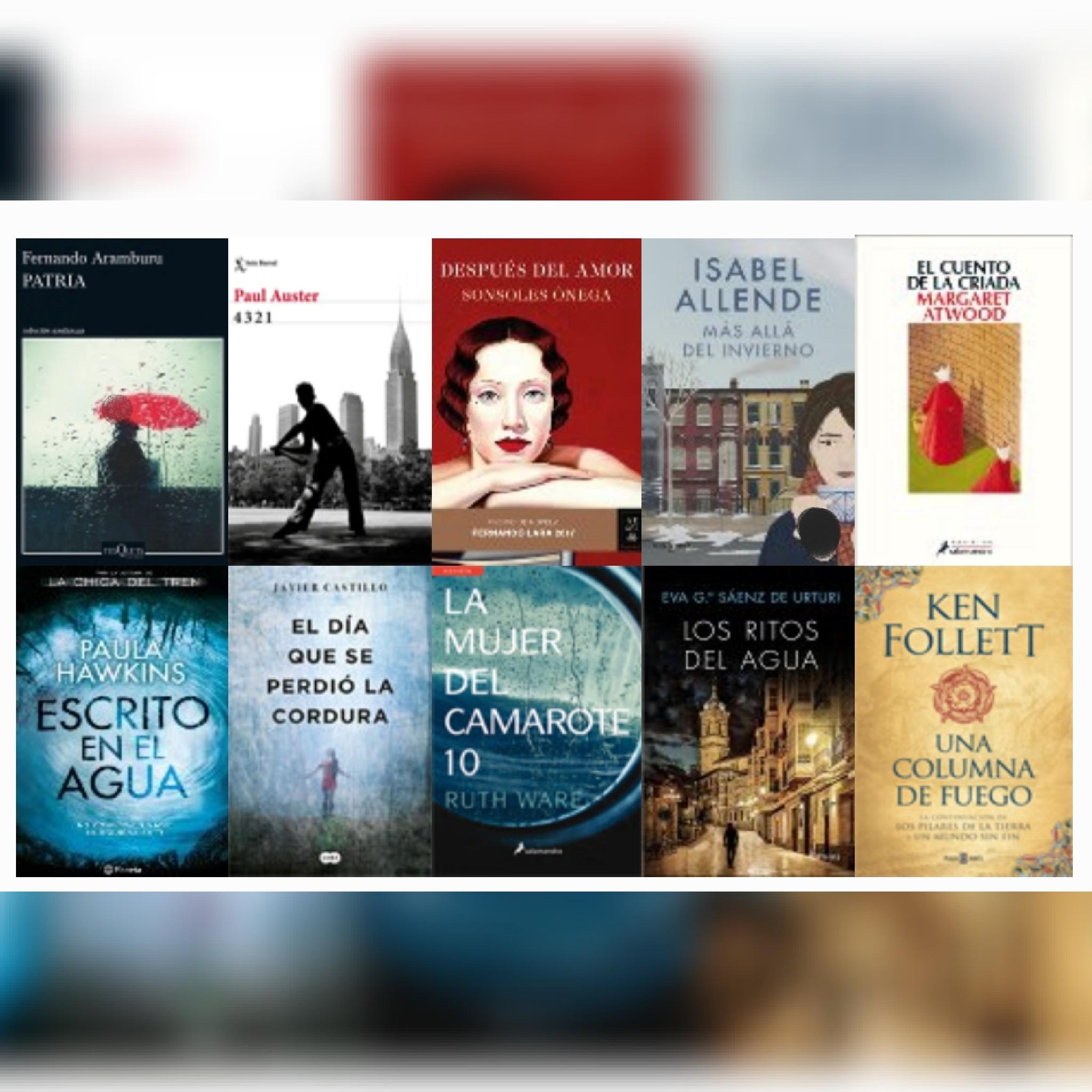 Lista libros ficción más vendidos del 11 al 17 de septiembre revista El Cultural