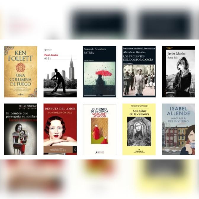 Lista libros ficción más vendidos semana del 2 al 8 de octubre revista El Cultural