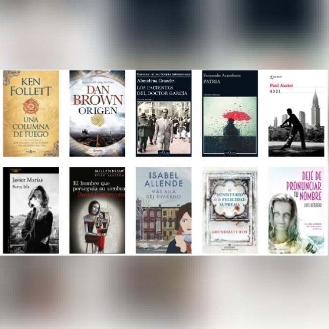 Lista libros ficción más vendidos del 9 al 15 de octubre revista El Cultural