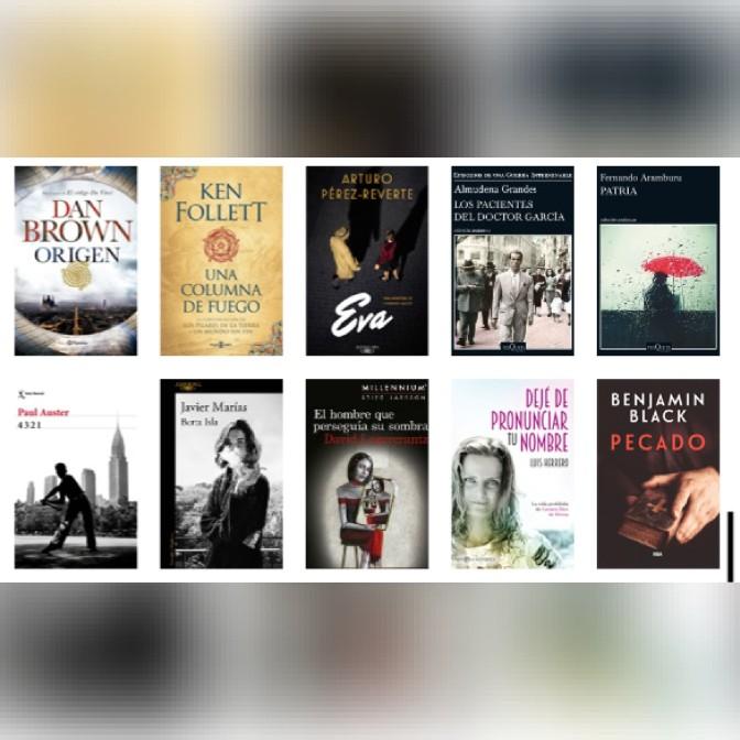 Lista libros ficción más vendidos del 30 al 5 de noviembre revista El Cultural