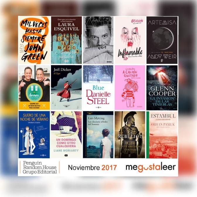 Novedades noviembre megustaleer Penguin Random House