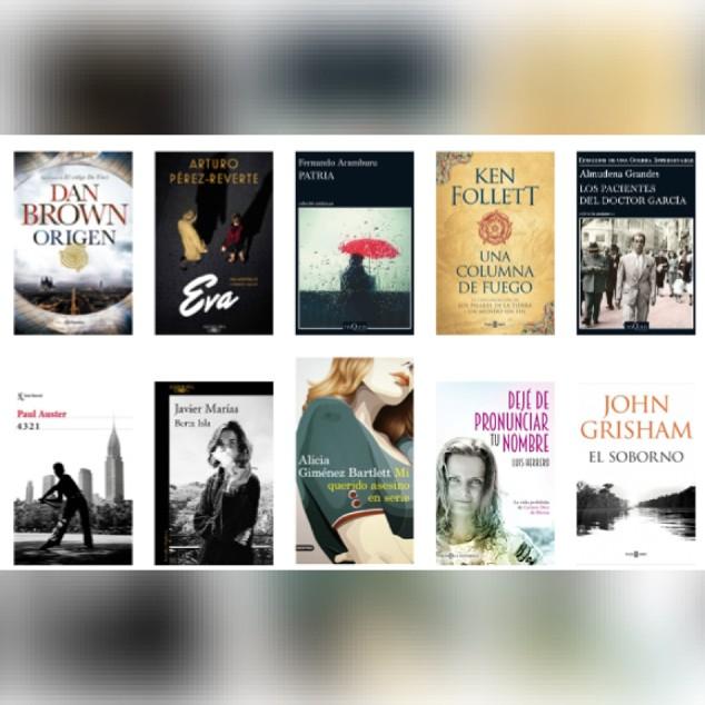 Lista libros ficción más vendidos semana del 6 al 12 de noviembre revista El Cultural