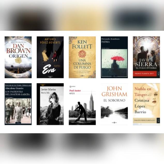 Lista libros ficción más vendidos del 13 al 19 de noviembre El Cultural