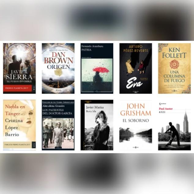Lista libros ficción más vendidos del 27 al 3 de diciembre revista el cultural
