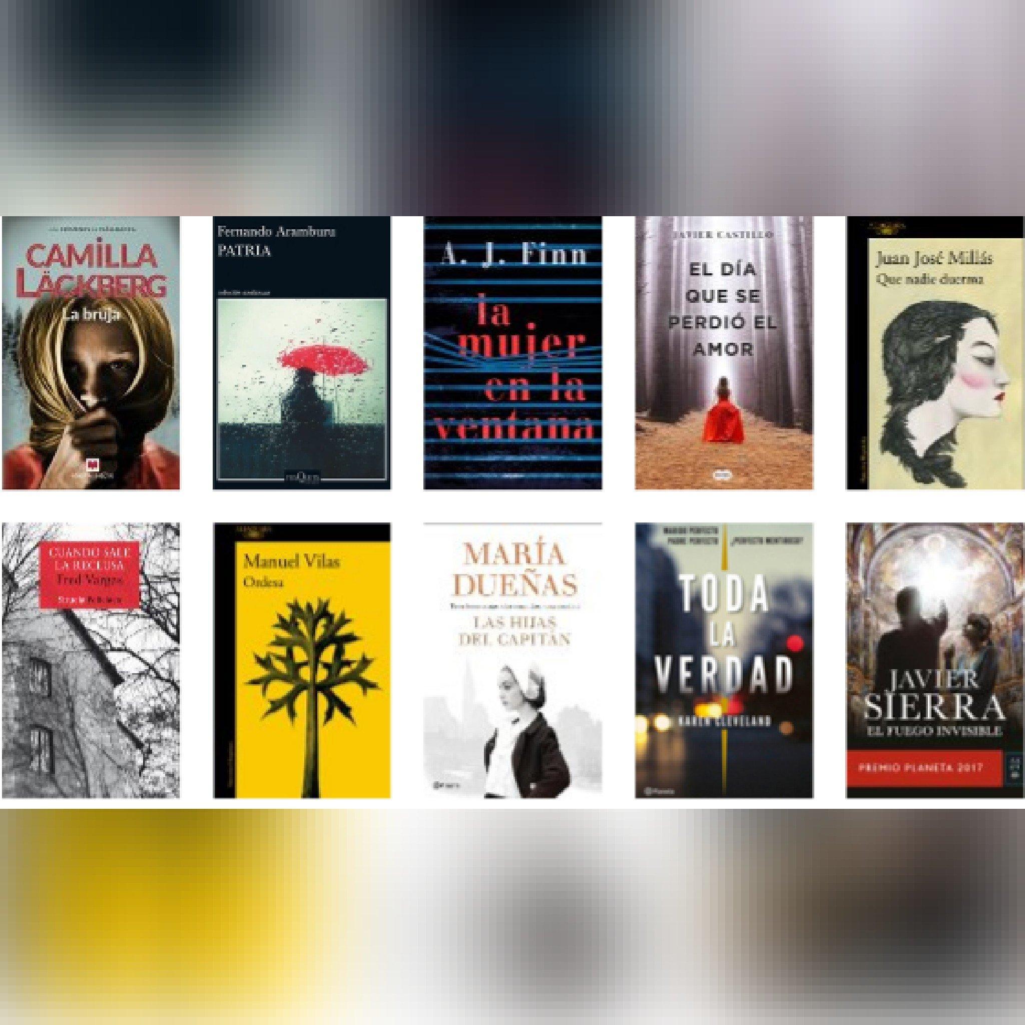 Lista libros ficción más vendidos del 9 al 15 de abril revista El Cultural