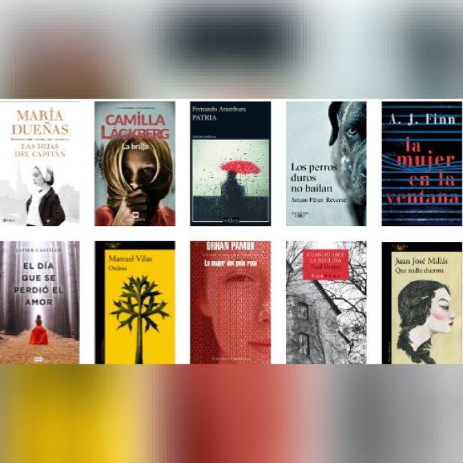 Lista libros ficción más vendidos del 23 alb29 de