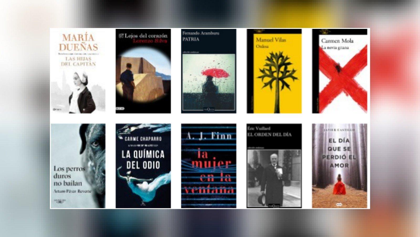 Lista libros ficción más vendidos del 11 al 17 de junio revista El Cultural